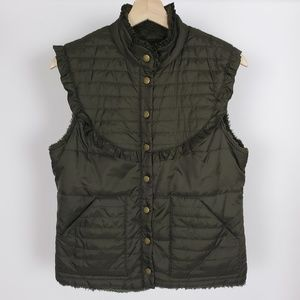 Free People Puffer Vest Button Front S
